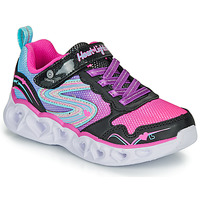 Skor Flickor Sneakers Skechers HEART LIGHTS Svart / Rosa / Led