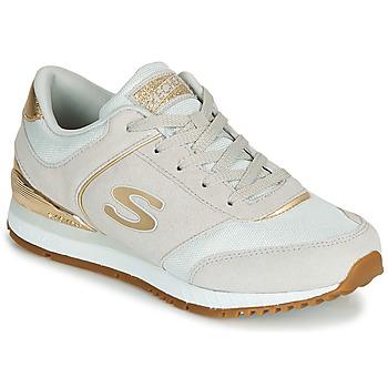 Skor Dam Sneakers Skechers SUNLITE Grå / Guldfärgad