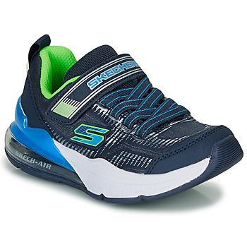Skor Pojkar Sneakers Skechers SKECHERS BOY Blå / Grön