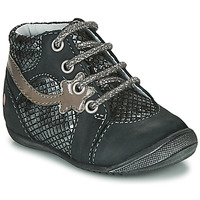 Skor Flickor Boots GBB NOEMIE Svart / Silver