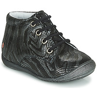 Skor Flickor Boots GBB NAOMI Svart / Silver