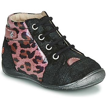 Skor Flickor Boots GBB NICOLE Svart / Rosa
