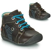 Skor Pojkar Boots GBB NATALE Brun / Blå
