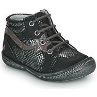 Skor Flickor Boots GBB NORA Svart / Silver