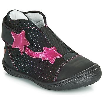 Skor Flickor Boots GBB NOLWENN Svart / Rosa