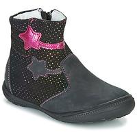 Skor Flickor Boots GBB NADIA Svart / Rosa