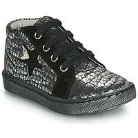 Skor Flickor Höga sneakers GBB LETO Svart / Silverfärgad