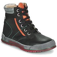 Skor Pojkar Boots Achile MANUEL Svart / Orange