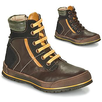 Skor Pojkar Boots Achile MANUEL Brun / Gul