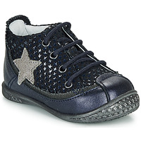 Skor Flickor Boots Ikks SYDNEY Marin / Silver