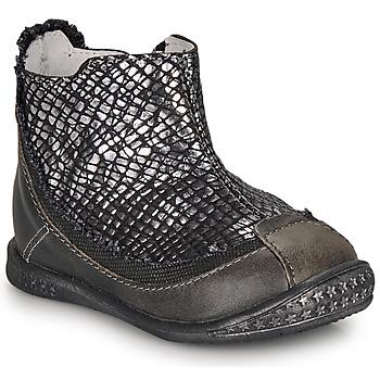 Skor Flickor Boots Ikks SCARLET Svart / Silver