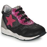 Skor Flickor Sneakers Ikks KAREN Svart / Rosa