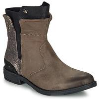 Skor Flickor Boots Ikks PAMELA Mullvadsfärgad / Guldfärgad
