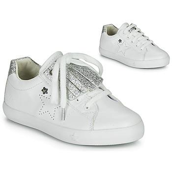 Skor Flickor Sneakers Ikks MOLLY Vit / Silver