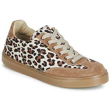 Skor Dam Sneakers André ARDOISE Leopard