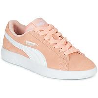 Skor Flickor Sneakers Puma SMASH V2JR PEAC Korall