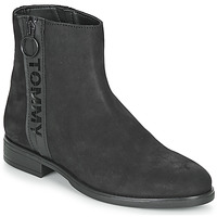 Skor Dam Boots Tommy Jeans TOMMY JEANS ZIP FLAT BOOT Svart