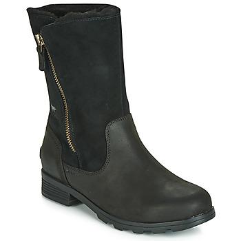 Skor Dam Boots Sorel EMELIE FOLDOVER Svart