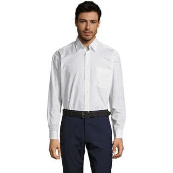 textil Herr Långärmade skjortor Sols BALTIMORE FASHION WORK Blanco