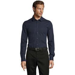 textil Herr Långärmade skjortor Sols BLAKE MODERN MEN Azul