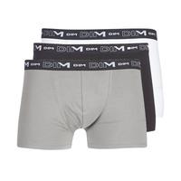 Underkläder  Herr Boxershorts DIM COTON STRETCH X3 Svart / Grå / Vit