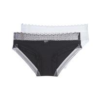 Underkläder  Dam Trosor DIM SEXY FASHION X2 Svart / Vit
