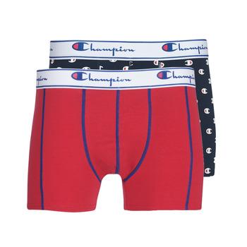 Underkläder  Herr Boxershorts Champion MIX UNI + IMPRIME X2 Svart / Röd