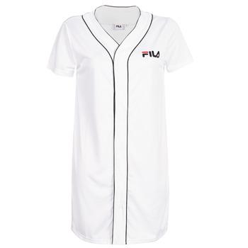 textil Dam Korta klänningar Fila WOMEN ROBIN button baseball dr Vit