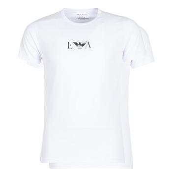 textil Herr T-shirts Emporio Armani CC715-111267-04712 Vit