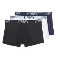 Underkläder  Herr Boxershorts Emporio Armani CC715-111357-56110 Vit / Svart / Marin
