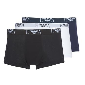 textil Herr Boxershorts Emporio Armani CC715-111357-56110 Vit / Svart / Marin