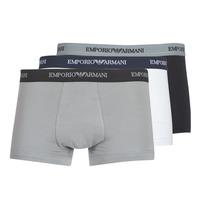 Underkläder  Herr Boxershorts Emporio Armani CC717-111357-02910 Vit / Svart / Grå