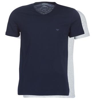 textil Herr T-shirts Emporio Armani CC722-111648-15935 Marin / Grå