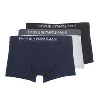 Underkläder  Herr Boxershorts Emporio Armani CC722-111610-94235 Marin / Grå / Svart