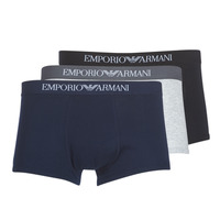 textil Herr Boxershorts Emporio Armani CC722-111610-94235 Marin / Grå / Svart
