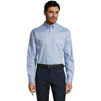 textil Herr Långärmade skjortor Sols BUSSINES MODERN MEN Azul