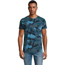 textil Herr T-shirts Sols CAMOUFLAGE DESIGN MEN Azul