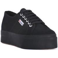 Skor Dam Sneakers Superga COTU FULL BLACK UP AND DOWN Nero