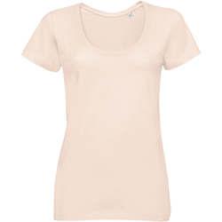 textil Dam T-shirts Sols METROPOLITAN CITY GIRL Rosa