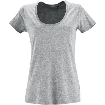 textil Dam T-shirts Sols METROPOLITAN CITY GIRL Gris