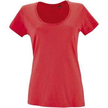 textil Dam T-shirts Sols METROPOLITAN CITY GIRL Rojo