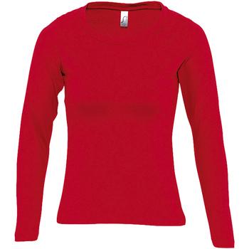 textil Dam Långärmade T-shirts Sols MAJESTIC COLORS GIRL Rojo