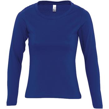 textil Dam Långärmade T-shirts Sols MAJESTIC COLORS GIRL Azul