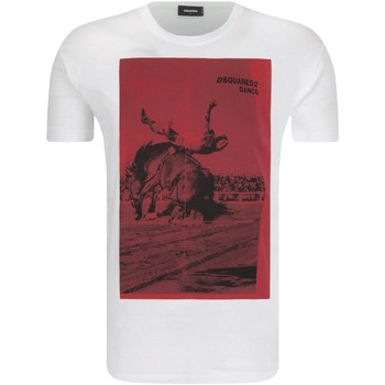 textil Herr T-shirts Dsquared S71GD0712 Vit