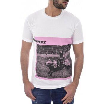 textil Herr T-shirts Dsquared S71GD0713 Vit