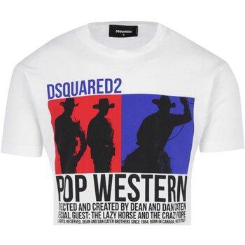 textil Herr T-shirts Dsquared S71GD0720 Vit
