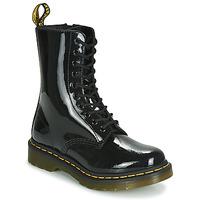 Skor Dam Boots Dr Martens 1490 PATENT LAMPER Svart