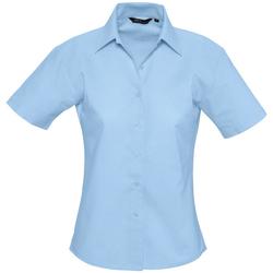 textil Dam Skjortor / Blusar Sols ELITE OXFORD Azul