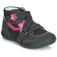 Skor Flickor Boots GBB NINA Svart / Rosa