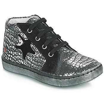 Skor Flickor Höga sneakers GBB LETO Svart / Silver
